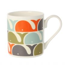 Orla Kiely Whale Orange Mug