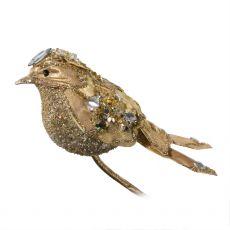 Ornate Gold Bird Clip Decoration