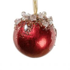 Ornate Red Jewelled Ball Decoration