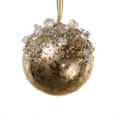 Ornate Gold Jewelled Ball Decoration