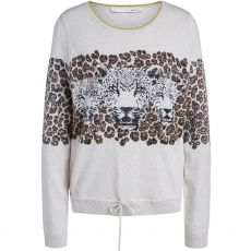 Oui Leopard Print Sweater