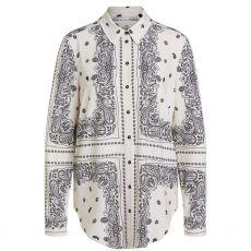 Oui Long Sleeve Paisley Shirt