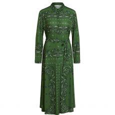 Oui Paisley Print Shirt Dress Green