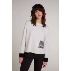 Oui Animal Print Pocket Jumper