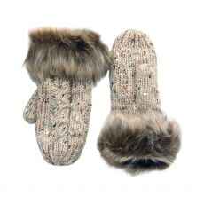 Patrick Francis Oatmeal Wool Mittens