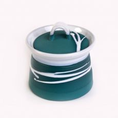 Paul Maloney Teal Sugar Bowl & Lid