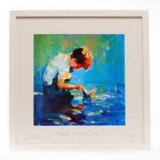 Paul Maloney Childhood is a Short Season Boy Frame 16 x 16
