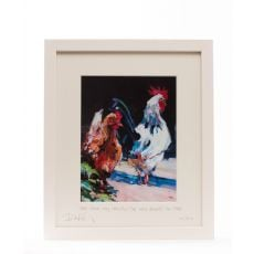 Paul Maloney The Cock May Crow But Frame 10 x 12