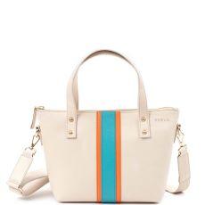 PEELO Mini Stripe Leather Tote Bag