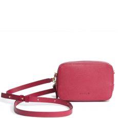 Peelo Saffiano Leather Raspberry Crossbody