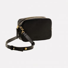 Peelo Saffiano Leather Black Crossbody