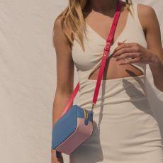 Peelo Leather Blue Cross Body Bag