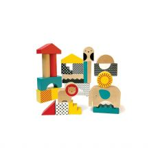 Petit Collage Animal Town Wooden Blocks, main image