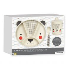 Petit Collage Baby Bamboo Bear Dinnerware Set
