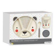 Petit Collage Baby Bamboo Bear Dinnerware Set