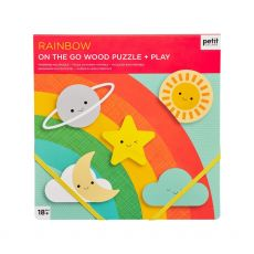 Petit Collage Chunky Wood Rainbow Puzzle
