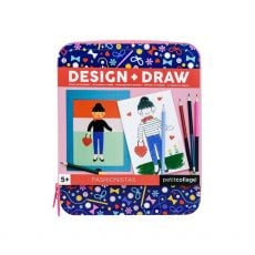 Petit Collage Fashionista Design & Draw Travel Kit
