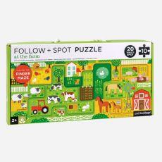 Petit Collage Follow & Spot At The Farm Puzzle