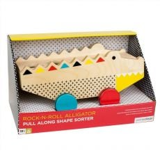 Petit Collage Rock-N-Roll Alligator Pull Along Shape Sorter
