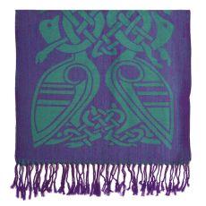 Patrick Francis Purple/Green Wool Scarf