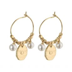 Pilgrim Affection Gold Earrings