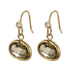 Pilgrim Air Gold Green Earrings