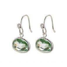 Pilgrim Air Silver Green Earrings