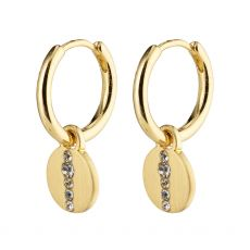 Pilgrim Casey Small Coin Huggie Hoops Gold-Plated