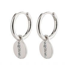 Pilgrim Casey Small Coin Huggie Hoops Silver-Plated