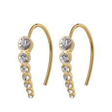 Pilgrim Legacy Crystal Earrings Gold-Plated