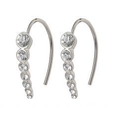 Pilgrim Legacy Crystal Earrings Silver-Plated