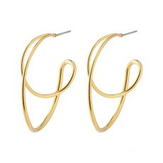 Pilgrim Miller Graphic Statement Earrings Gold-Plated