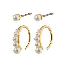 Pilgrim Native Beauty Pearl Earrings Gold-Plated
