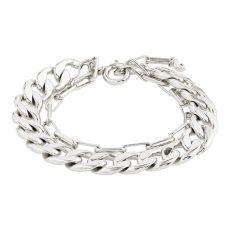 Pilgrim Compass Silver Bracelet