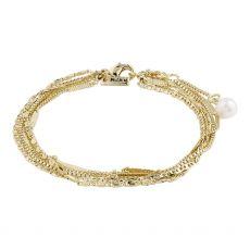 Pilgrim Katherine Gold White Bracelet