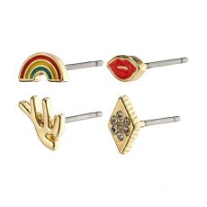 Pilgrim Nicole Gold Multi Earrings