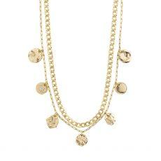 Pilgrim Poesy Gold Crystal Necklace