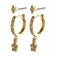 Pilgrim Sylvia Gold Crystal Earrings
