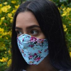 Pink Floral Adult Face Covering