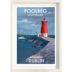The Ireland Posters Store Poolbeg Lighthouse Frame