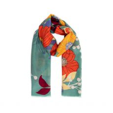 Powder Autumn Floral Scarf