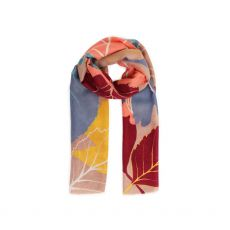 Powder Autumn Leaves Scarf