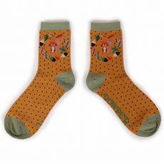 Powder Autumn Squirrel Ankle Socks