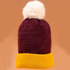 Powder Bonnie Damson & Mustard Hat
