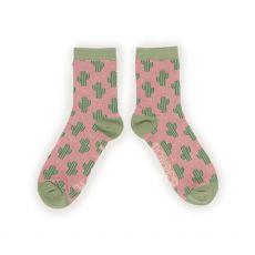 Powder Cacti Ankle Socks