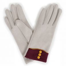 Powder Cassie Pale Grey Gloves