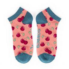 Powder Cherries Trainer Socks