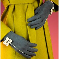 Powder Doris Charcoal Gloves