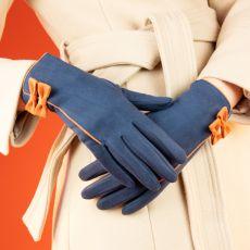 Powder Doris Navy Gloves