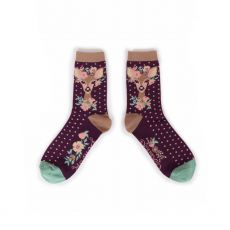 Powder Floral Deer Ankles Socks